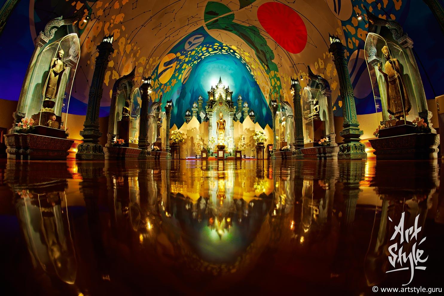 Shrine inside Erawan belly, Erawan museum/temple, Bangkok, Thailand.