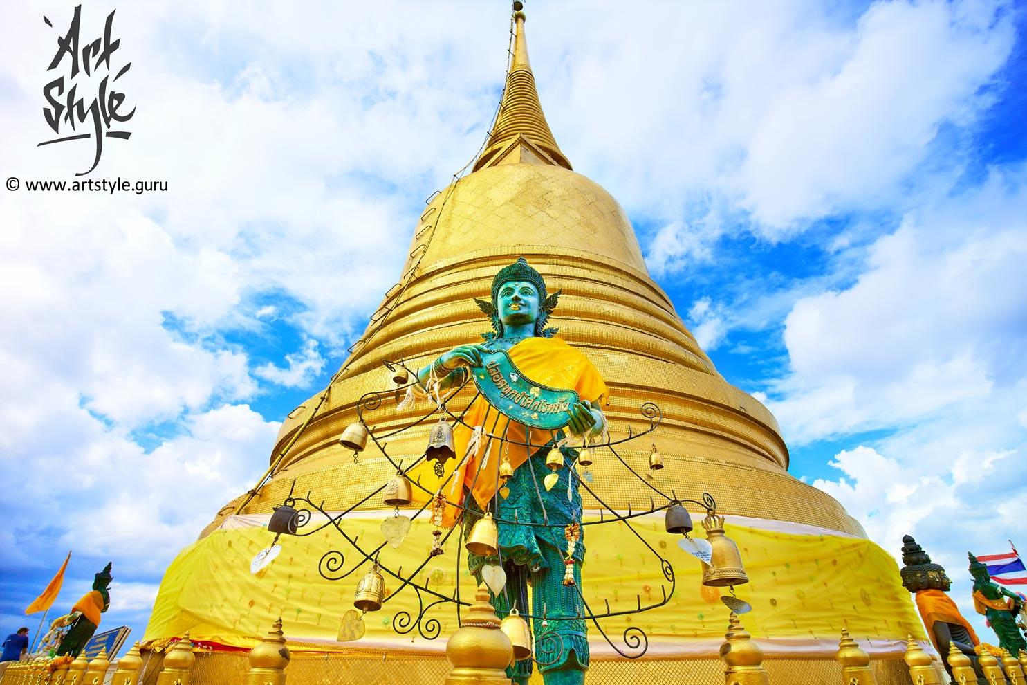 Wat Saket (The Golden Mount), Bangkok, Thailand.