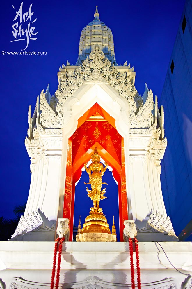 Trimurti shrine, Bangkok, Thailand.
